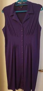 Purple sleeveless dress sz14